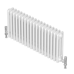 Barlo Forza Horizontal 3 Column Designer Radiator White 300x1472mm