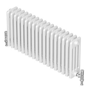 Barlo Forza Horizontal 4 Column Designer Radiator White 600 x 552mm