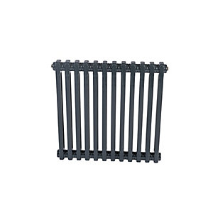 Purmo Delta 2 Column Radiator Horizontal Anthracite 600 x 1000mm