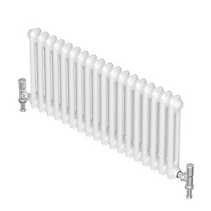 Purmo Forza Horizontal 2 Column Designer Radiator White 600 X 1380mm
