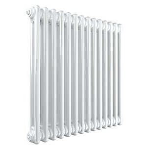 Stelrad Softline 2 Column Radiator Horizontal K2 White - 600 x 628 mm