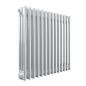 Stelrad Softline 3 Column Radiator Horizontal K3 White - 600 x 628 mm