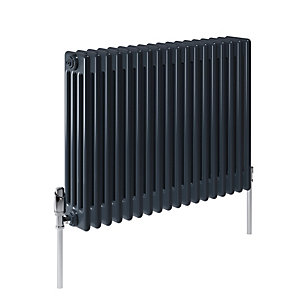 Stelrad Softline 4 Column Concept Radiator K4 Horizontal Anthracite - 600 x 628 mm