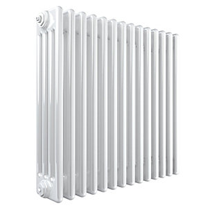 Stelrad Softline 4 Column Radiator Horizontal K4 White - 600 x 858 mm