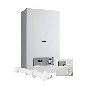 Glow-worm Betacom4 24kW Combi Boiler with Vertical Flue and Climastat Control Pack 10021204
