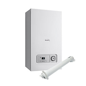 Glow-worm Betacom4 24kW Gas Combi Boiler and Horizontal Flue Pack