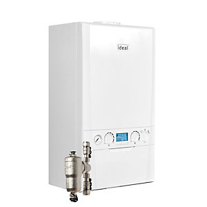 Ideal Logic Max C30 30kW Combi Boiler with Horizontal Flue and System Filter 218873