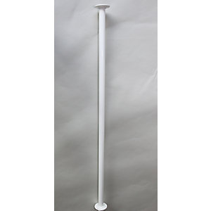 Barwood Floor To Ceiling Pole 2750mm 35mm Diameter White