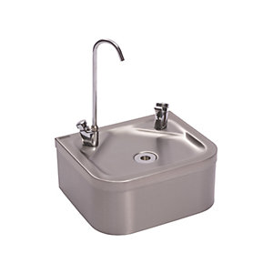 Franke Stainless Steel Wall Mounted Centinel Drinking Fountain with Bubbler & Bottle Filler
