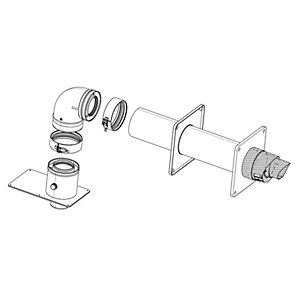Ideal Horizontal Flue Kit Dia 80/125mm