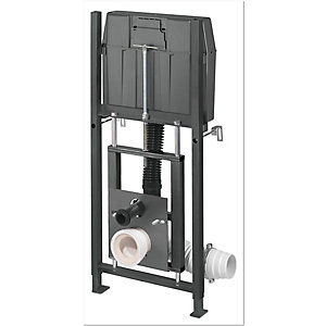 Wirquin High WC In Wall Frame & Adjustable Height Complete Cable Operated Dual Flushing Cistern Valve 55718765
