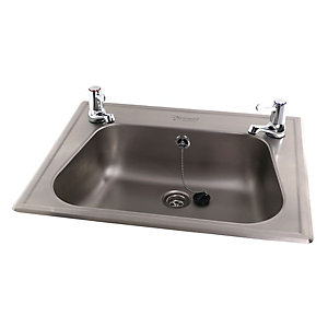 Acorn Thorn 251-1-T-22 Inset Wash Basin 540x440x140 2 Tap Hole Stainless Steel