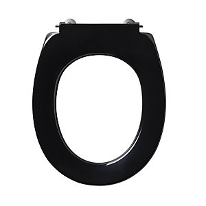Armitage Shanks Contour 21 Black Toilet Seat (No Cover) for High Pan S405766