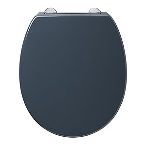 Armitage Shanks Contour 21 Black Toilet Seat and Cover with Top Fixing Hinges S4065RN