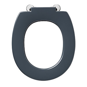 Armitage Shanks Contour 21 Black Toilet Seat with Retaining Buffers S4066RN