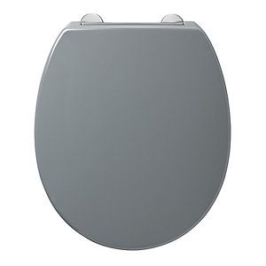 Armitage Shanks Contour 21 Grey Standard Seat and Cover with Top Fixing Hinges S4065LJ