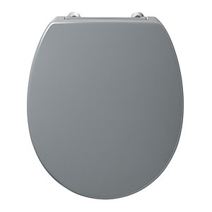 Armitage Shanks Contour 21 Grey Toilet Seat and Cover with Bottom Fix Hinges S4058LJ