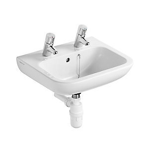 Armitage Shanks Contour 21 Portman 500mm 2 Tap Hole Washbasin S230901