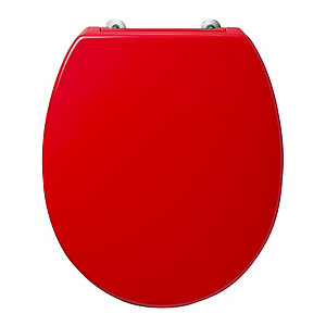 Armitage Shanks Contour 21 Red Toilet Seat and Cover with Bottom Fix Hinges S4058GQ