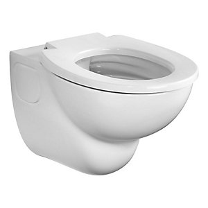 Armitage Shanks Contour 21 rimless wall mounted WC pan with horizontal outlet White S307601
