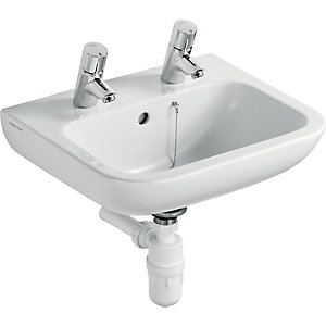 Armitage Shanks Portman 21 Wash Basin 2 Tap Holes 500 x 420 mm S225301