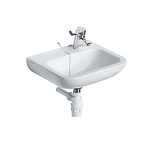 Armitage Shanks Portman 21 Washbasin (1 taphole with overflow. No chainstay hole) White 500 mm S231101