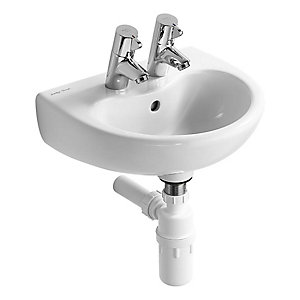 Armitage Shanks S263601 Contour 21 Splash Basin 400 x 330mm 2 Tap Hole White