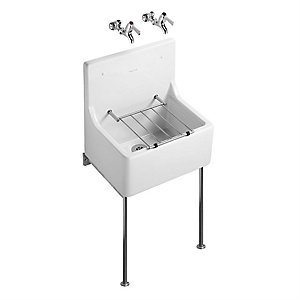 Armitage Shanks S590001 Alder 510 White Sink & Pad & Grating