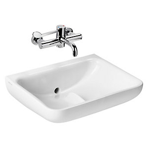 C21 + Basin 60 Smartguard+ White No Tap Holes Back Outlet No Tap Holes Anti-splash