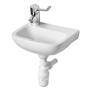 Contour 21 370mm Handrinse Washbasin 1 Tap Hole Left Hand No Overflow No Chainstay Hole