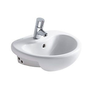 Contour 21 Splash 40cm short projection semi-countertop basin