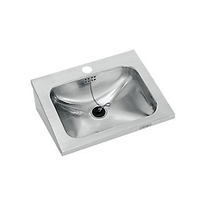 Franke Single 400mm Wall Mounted Washbasin with Tap Hole