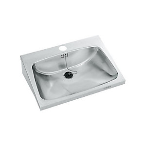 Franke Single 540mm Wall Mounted Washbasin with Tap Holes