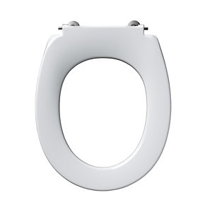 Ideal Standard Contour 21 Small White Toilet Seat (No Cover) with Bottom Fixing S405701