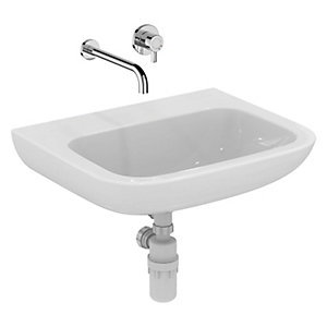 Ideal Standard Portman 21 Wall Mounted Wash Basin 0 Tap Holes 600 mm S225501