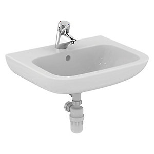 Ideal Standard Portman 21 Wall Mounted Wash Basin with Overflow 1 Centre Tap Hole S225601