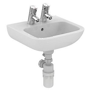 Ideal Standard Portman 21 Wash Basin 2 Tap Holes S231301