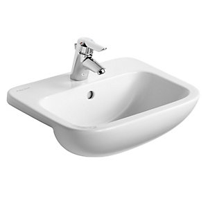 Ideal Standard Profile 21 Semi Countertop Wash Basin 1 Tap Hole 500 mm S249201
