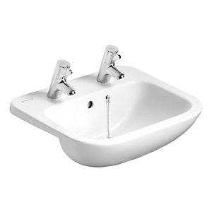 Ideal Standard Profile 21 Semi Countertop Wash Basin 2 Tap Holes 500 mm S249401