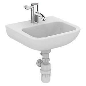 Portman 21 40cm Basin No Overflow Or Chain Hole - One Centre Taphole S231501