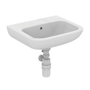 Portman 21 500mm Washbasin 0 Tap Holes Left Hand  No Overflow No Chainstay Hole
