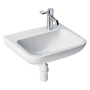 Portman 21 60cm Basin No Overflow Or Chain Hole - One Right Hand Taphole