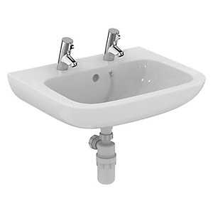 Portman 21 60cm Basin with Overflow and Chain Hole - 2TH S225701