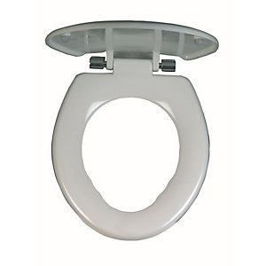 Twyford AV7840WH Avalon White Toilet Seat & Cover