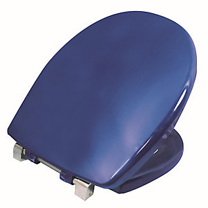 Twyford Av7865Be Avalon/Sola Toilet Seat & Cover Top Fix Blue