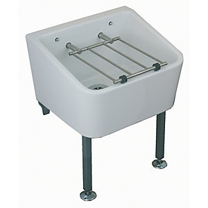 Twyford Fc1034Wh Cleaners Sink & Grating & Pad
