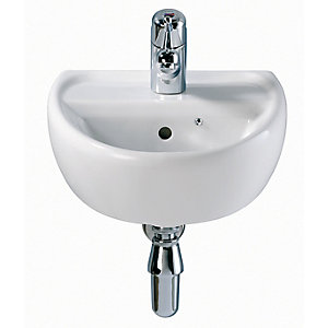 Twyford Sa4111Wh Sola Basin 400mm 1 Tap Hole White