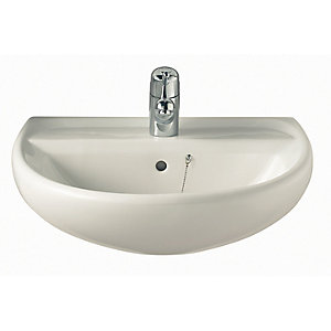 Twyford Sa4311Wh Sola Basin 600mm 1 Tap Hole White