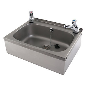 Acorn Thorn Wall Hung Wash Basin Stainless Steel 2 Taphole with Apron Support
