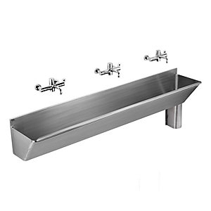 Armitage Shanks S2877MY Firth 40 x 45cm Scrub Up Trough Stainless Steel Right Hand Outlet Waste & Cover